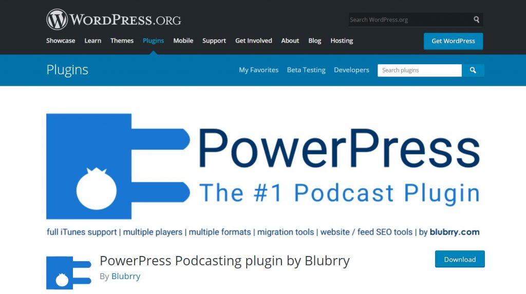 PowerPress plugi podcast untuk WordPress