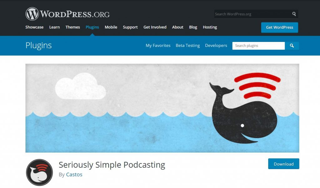 Plugin Seriously Simple Podcasting WordPress