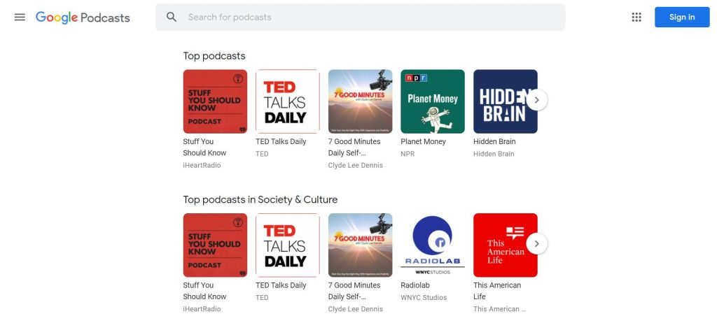 Menampilkan Podcast di Google Podcast