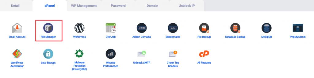 Pilih cara upload website pakai file manager