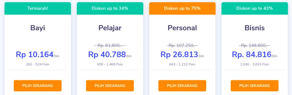 harga hosting untuk jualan baju online
