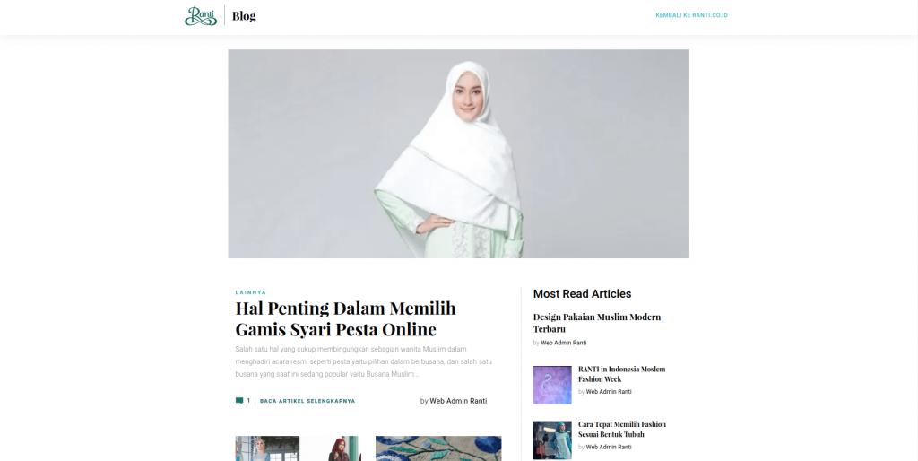blog website butik online