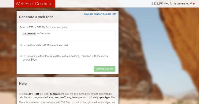 cara mengganti font webfont