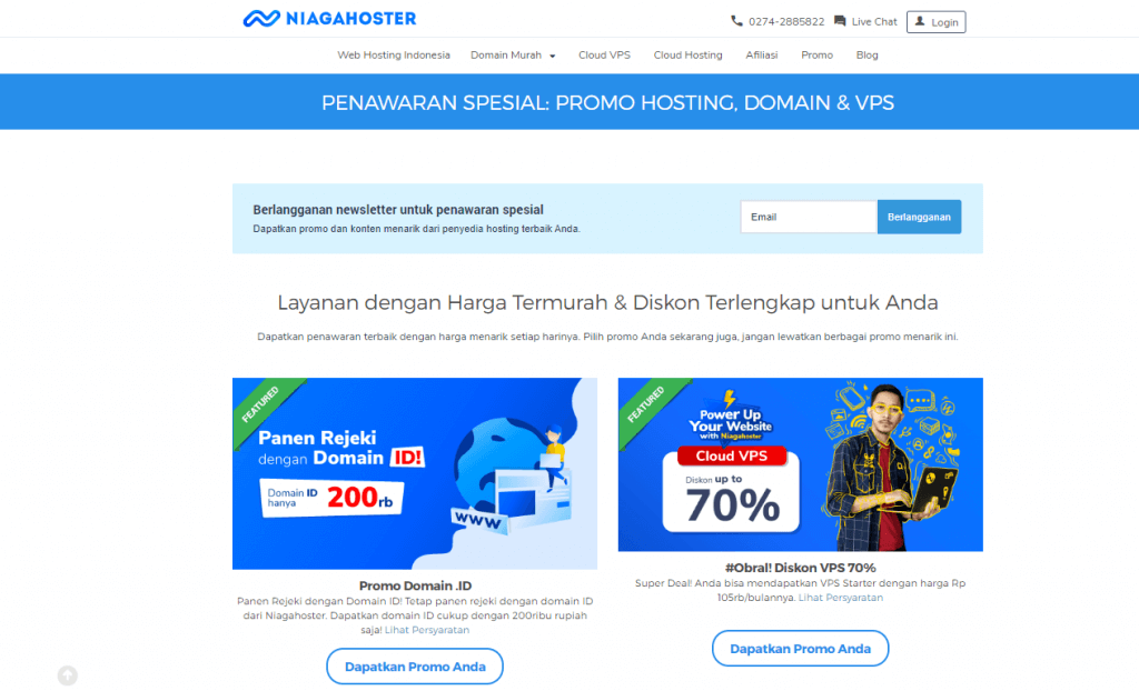 promo domain hosting niagahoster