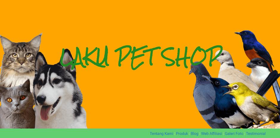 Desain website Laku Pet Shop memperhatikan target audiens