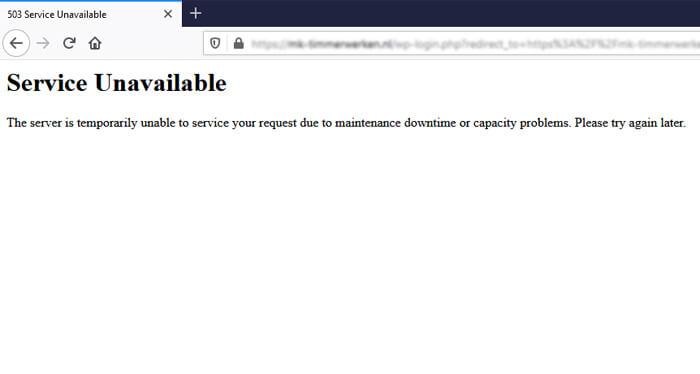contoh error 503 service unavailable