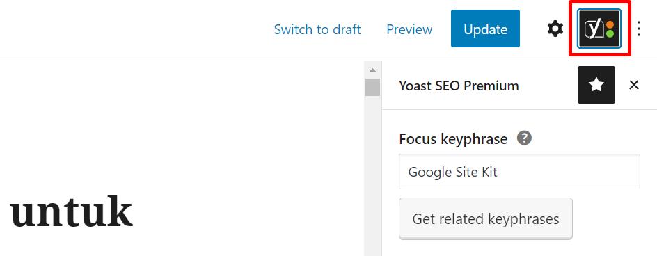 toolbar analisis yoast seo