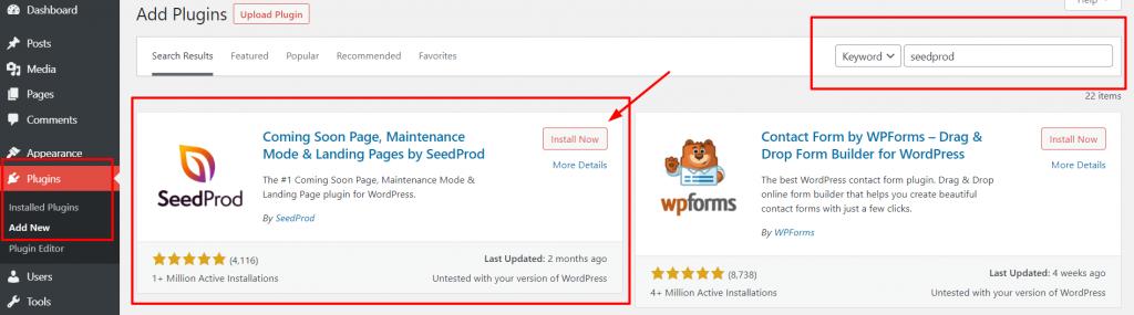 langkah pertama membuat custom page wordpress menggunakan plugin