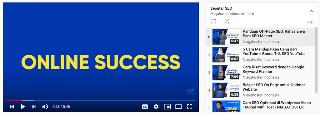 contoh penggunaan auto play pada playlist youtube