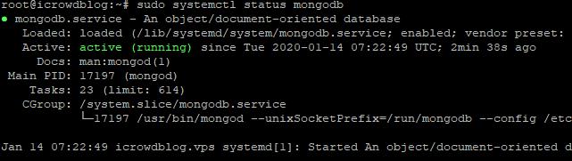 Cek Statsus MongoDB