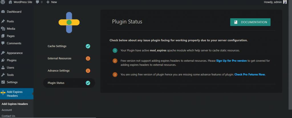 Plugin Status