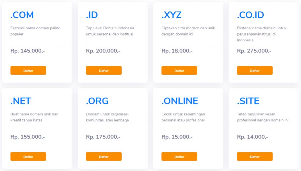 paket domain niagahoster