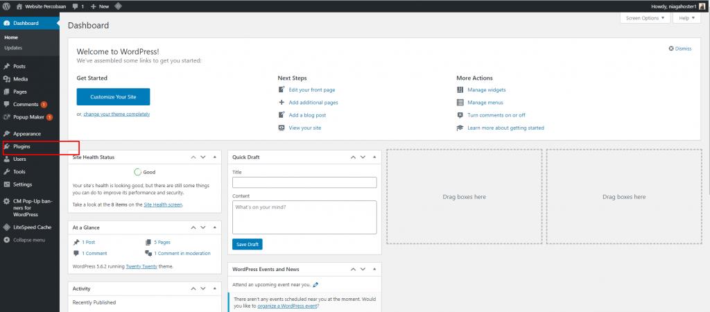 cara membuat website forum klik plugin