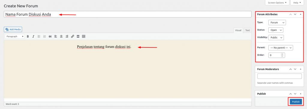 form nama website forum