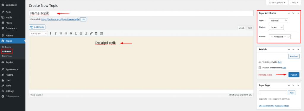 form topik website forum