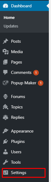 klik setting