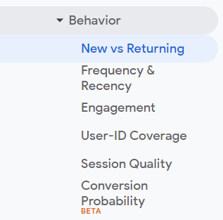 returning visitor google analytics