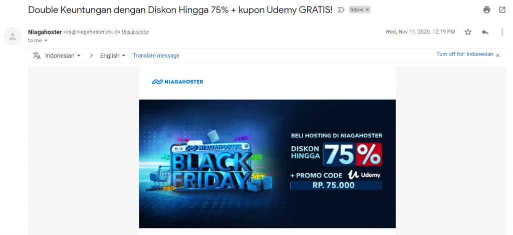 mempertahankan pelanggan dengan email marketing niagahoster