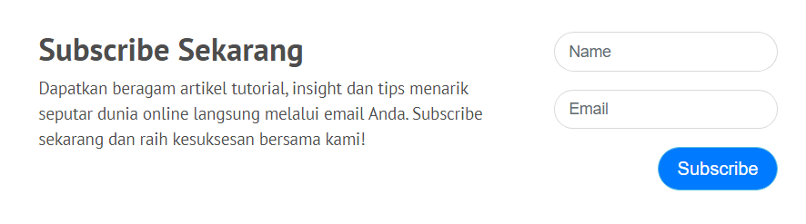 subscribe newsletter niagahoster