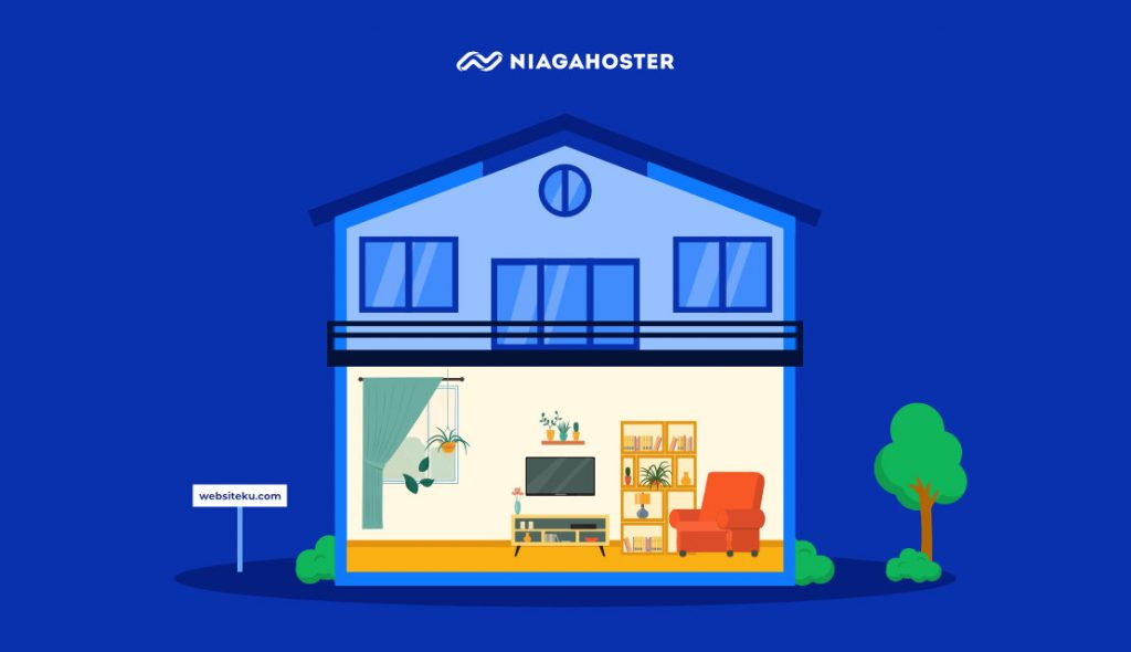 ilustrasi domain dan hosting