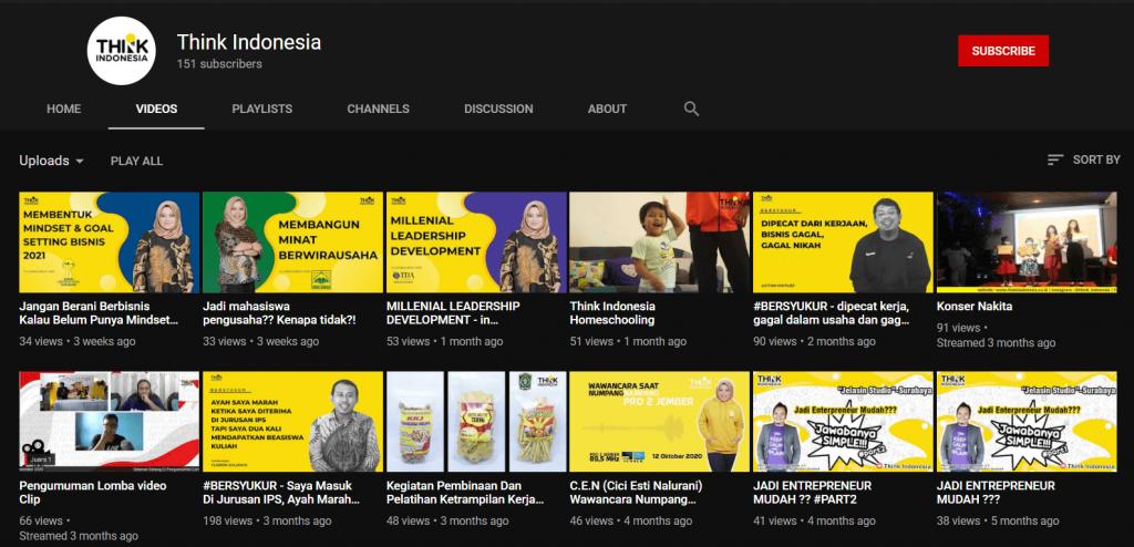 Thumbnail konsisten dengan warna brand