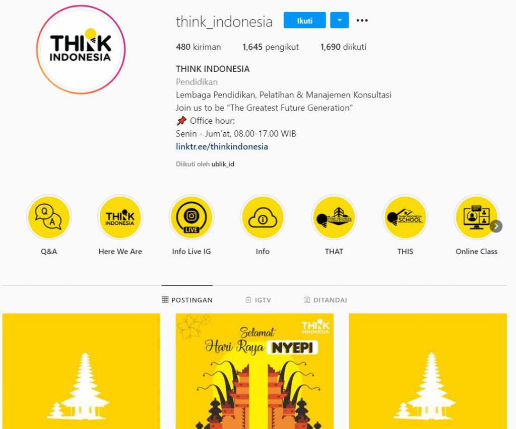 Instagram Marketing Think Indonesia