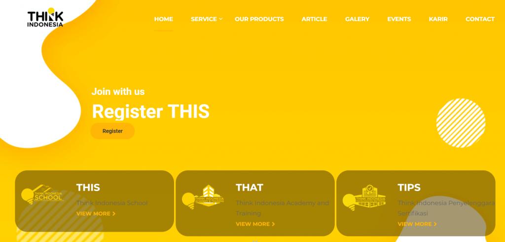 Think Indonesia membuat website perusahaan