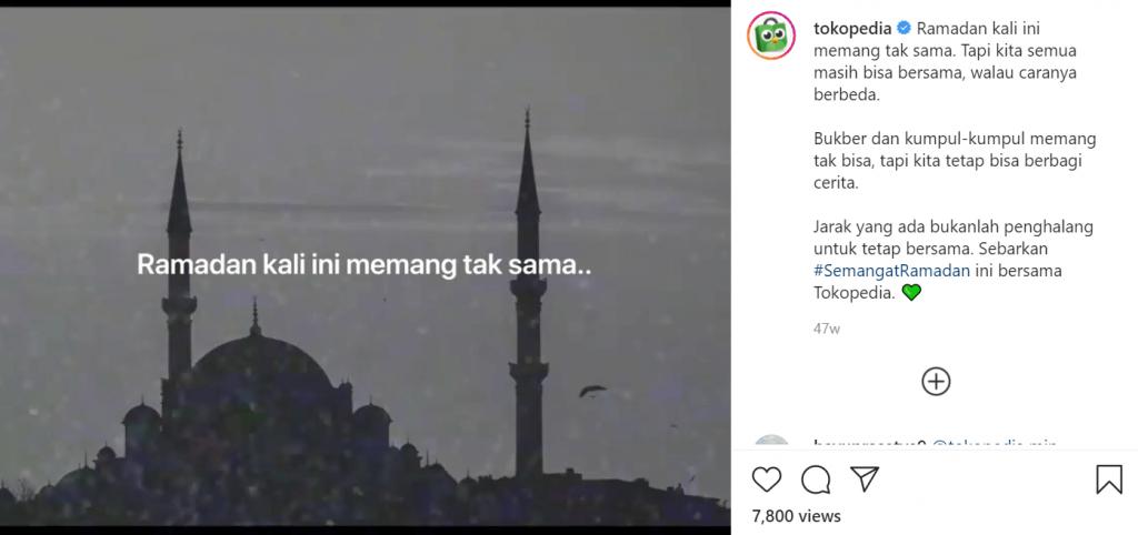 sukses di bulan ramadhan dengan iklan ramadhan tokopedia di instagram