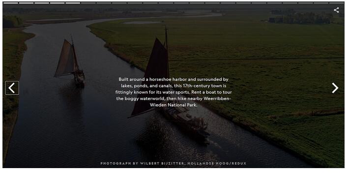Contoh Web Story berbentuk landscape