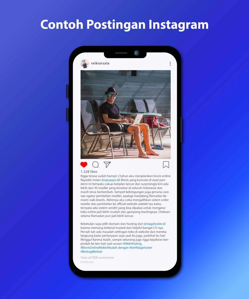 Contoh Postingan Berbagi Cerita Bisnis Online di Instagram