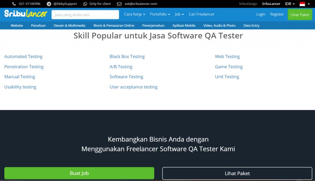menggunakan jasa software tester di situs freelance untuk mencegah bug software