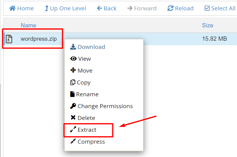 extract file website ke hosting melalui file manager cpanel dalam cara memindahkan database xampp ke hosting