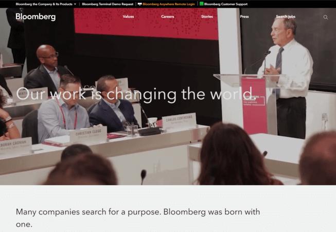 contoh website company profile bloomberg