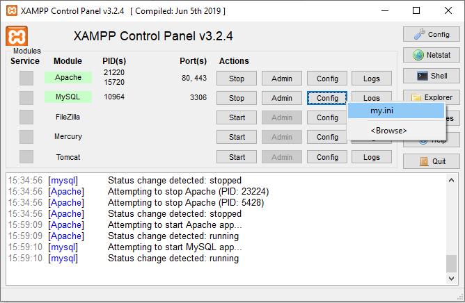 Cara Mengatasi Error phpMyAdmin Access Denied karena port localhost yang tidak sesuai langkah pertama