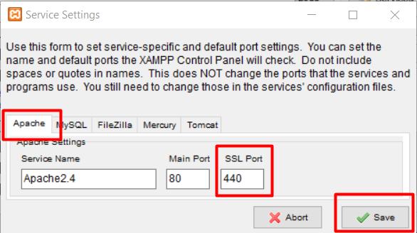 ganti SSL port pada aplikasi XAMPP sebagai cara mengatasi error port 433 XAMPP