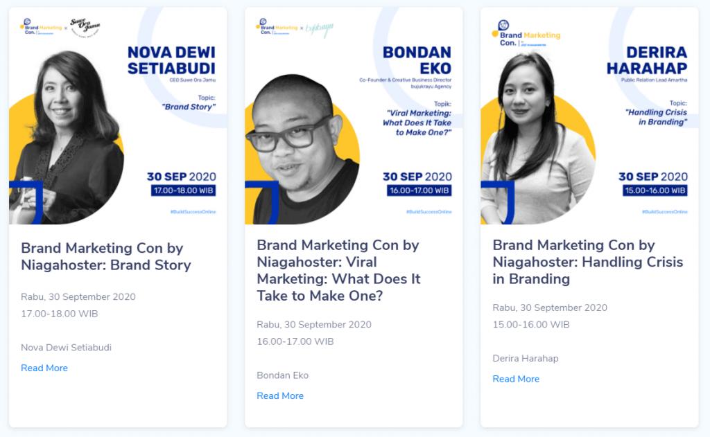 Cara Kerja Landing Page Niagahoster untuk Virtual Event