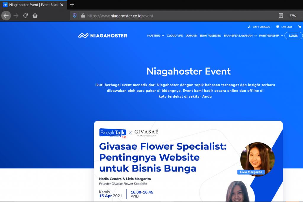Landing Page Menggunakan Website Sendiri