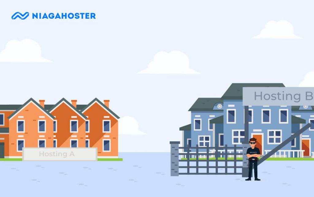 ilustrasi hosting aman