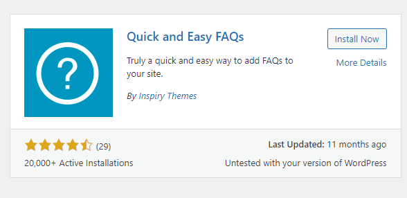 Plugin Quick and Easy FAQs