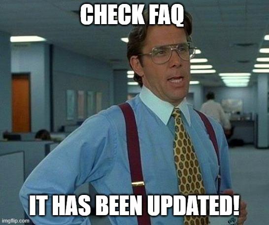Lakukan Pembaruan FAQ