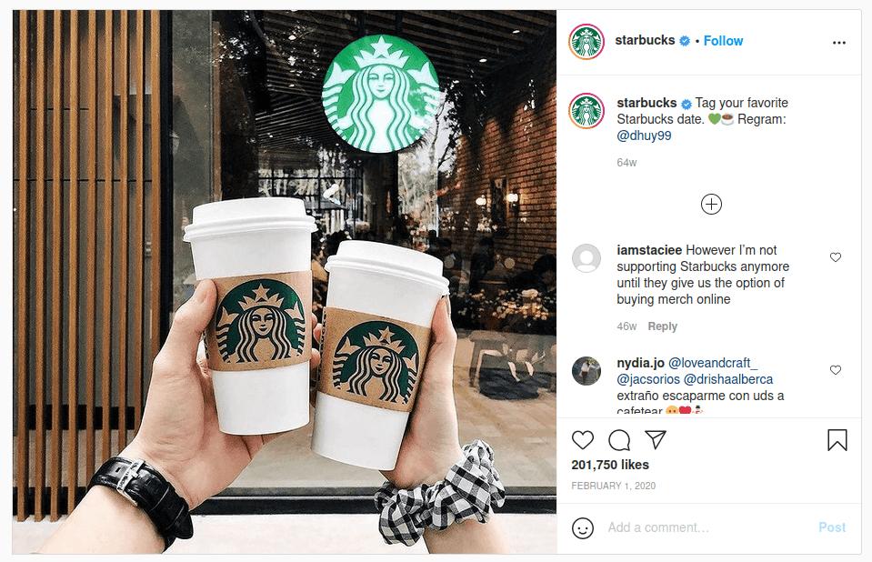 Contoh user generated content pada Instagram
