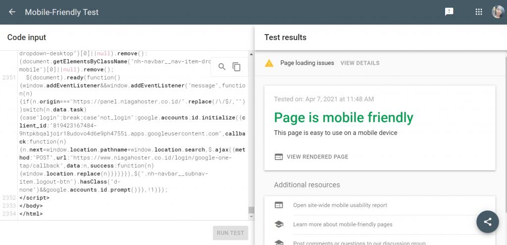 Tools cek website responsive dengan code