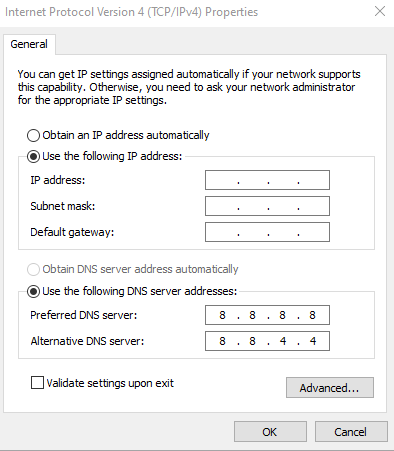 Mengganti DNS ISP dengan DNS Google