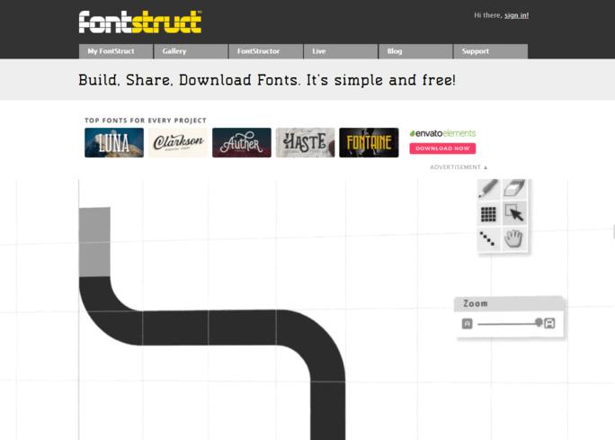 salah satu website penyedia font keren adalah fontstruck