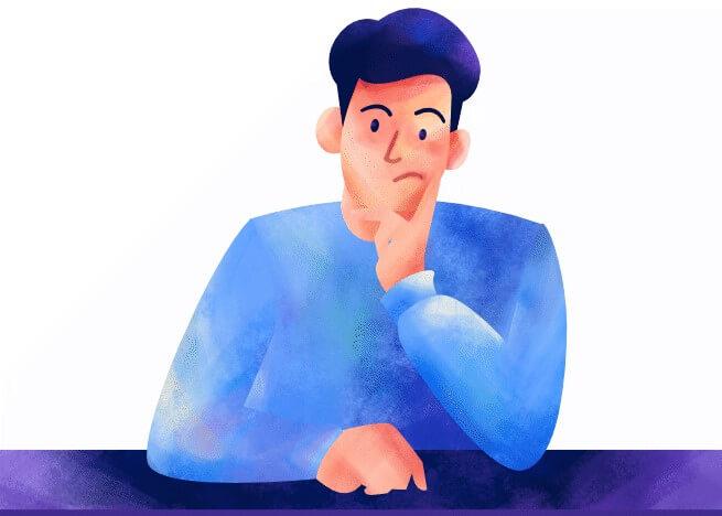ilustrasi orang mikir saat menghadapi tantangan bisnis online