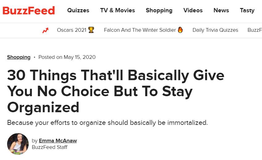 judul clickbait promosi Buzzfeed