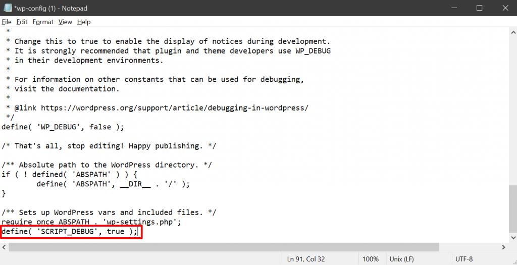 Mengubah value di file SCRIPT_DEBUG untuk debugging