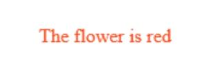 Hasil coding HTML Text Colour mengubah huruf menjadi merah