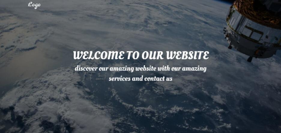 Desain web HTML Landing Page versi desktop