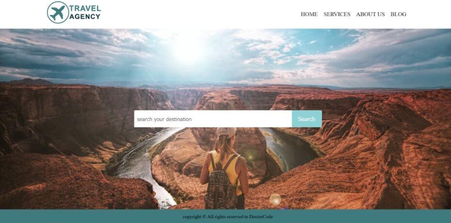Contoh website travel